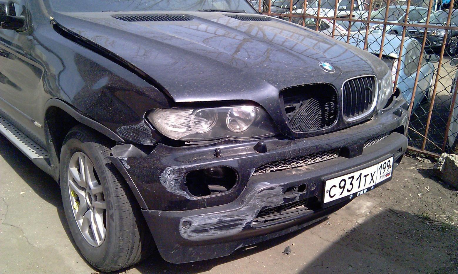 BMW X5 E53 2005г.в. цвет черный перламутр