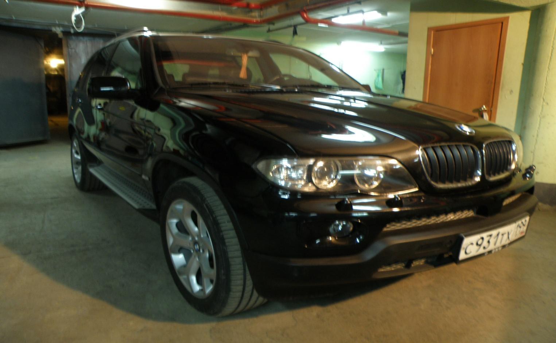 Ремонт автомобиля BMW X5 E53 2005г.в. цвет черный перламутр